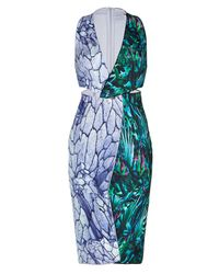 Dion Lee | Multicolor Silk Reverse Terrain Locked Sheath | Lyst