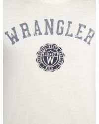 Wrangler | White Regular Fit Varsity Logo Printed T Shirt for Men | Lyst