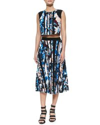 Elizabeth and James - Multicolor Caident Pleated Printed Skirt - Lyst