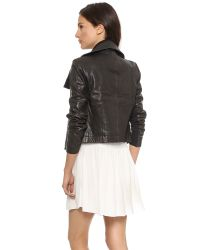 VEDA - Black Max Classic Leather Jacket - Lyst