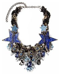 Night Market | Metallic Star Crystal Necklace | Lyst