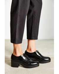 Silence + Noise | Black Chunky Lace-up Oxford | Lyst