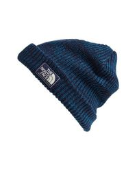 The North Face - Green 'salty Dog' Beanie for Men - Lyst