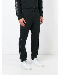 b88586ab46 Lyst - Just Cavalli Studded Track Pants in Black for Men