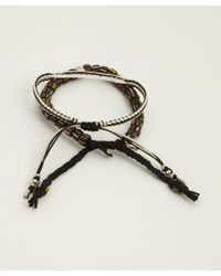 Tai - Set Of Two - Black Bar And Bead Cinch Bracelets - Lyst