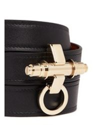 Givenchy | Black 'obsedia' Triple Wrap Leather Bracelet | Lyst