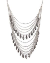Forever 21 - Metallic Falling Leaves Layered Necklace - Lyst