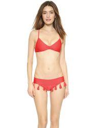Luli Fama   Cuba Libre Tassel Bikini Top - Luli Red   Lyst