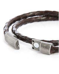 Jack & Jones | Dark Brown Woven Leather Bracelet for Men | Lyst