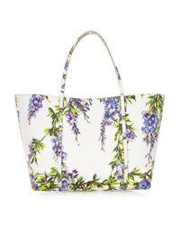Dolce & Gabbana - Multicolor Escape Medium Floral-Print Textured-Leather Tote - Lyst