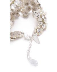 Jenny Packham | Metallic Fiori Bracelet I - Crystal/pearl | Lyst