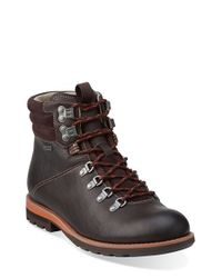 Clarks Brown 'padley Alp' Plain Toe Boot for men