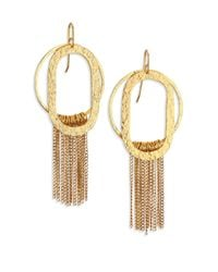 Stephanie Kantis | Metallic Paris Romance Double Loop Fringe Earrings | Lyst