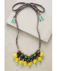 Anthropologie - Yellow Alondra Bib Necklace - Lyst