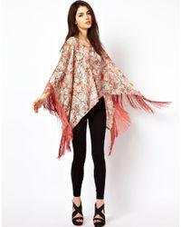 House of Dereon - Pink Butterfly Print Kaftan - Lyst