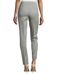 Lafayette 148 New York - Gray Long Stanton Pants - Lyst