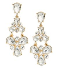 R.j. Graziano | Metallic Crystal Cluster Drop Earrings | Lyst