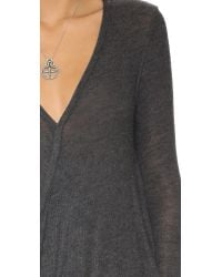 Free People | Gray Miss Rose Blouse - Dark Grey Heather | Lyst