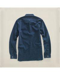 RRL | Blue Railman Pullover for Men | Lyst