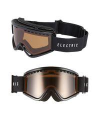 Electric - 'egv.k' 175mm Snow Goggles - Gloss Black/ Bronze - Lyst