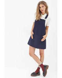 Forever 21 - Blue Overall Dress - Lyst