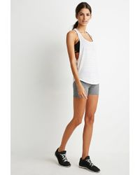 Forever 21 | White Active Burnout Racerback Tank | Lyst