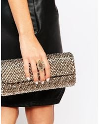 Little Mistress | Gray Statement Cocktail Ring | Lyst