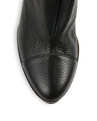 Burberry Prorsum - Black Leather Booties - Lyst