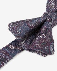 Ted Baker | Blue Silk Paisley Bow Tie for Men | Lyst