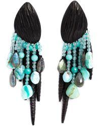 Monies - Blue Chandelier Clip On Earrings - Lyst