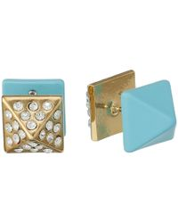 Marc By Marc Jacobs | Blue Diamonds And Daisies Double Ended Pyramid Earrings | Lyst