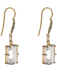 Cathy Waterman | White Gemstone Leaf Drop Earrings | Lyst