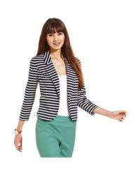 Maison Jules - Blue Striped Blazer - Lyst