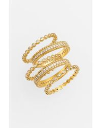 Freida Rothman - Metallic Stackable Rings (set Of 5) - Lyst