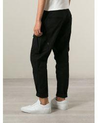 Stone Island | Black Cargo Trousers for Men | Lyst
