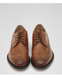 Reiss - Brown Ash Longwing Leather Brogues for Men - Lyst