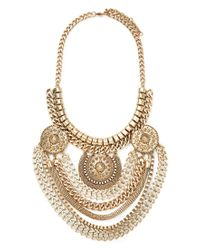Forever 21 | Metallic Mixed Chain Medallion Necklace | Lyst