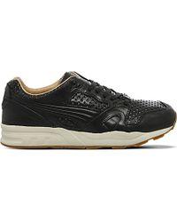 PUMA - Black Trinomic Xt2 Leather Trainers for Men - Lyst