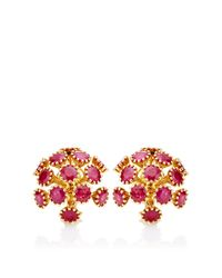 Seaman Schepps - Metallic Sputnik Earrings in Ruby - Lyst