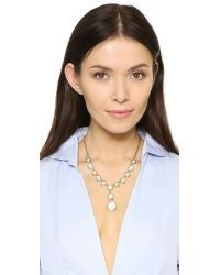 kate spade new york - Metallic Punchy Petals Y Necklace - Lyst