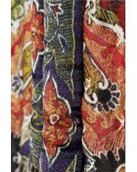 Isabel Marant - Multicolor Glenn Printed Silk Crepe Jacket - Lyst