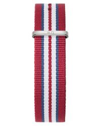 Daniel Wellington - Red 'classic Exeter' 20mm Nato Watch Strap - Lyst