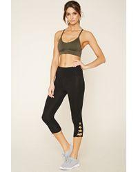 Forever 21 - Black Active Side Stripe Leggings - Lyst
