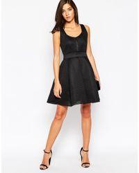 Little Black Dress - Black Zooey Dress In Mesh Fabric - Lyst