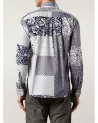 Engineered Garments - Blue Mixed Prints Shirt for Men - Lyst