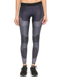 Ultracor - Gray Camo Tech Print Leggings - Steel - Lyst