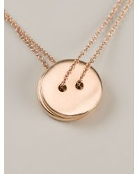 Alice Waese | Pink Two Button Necklace | Lyst