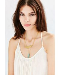Urban Outfitters - Metallic Swinging Jade Layer Necklace - Lyst