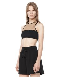 Alexander Wang - Black Mesh Combo Swim Top - Lyst