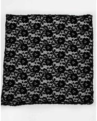 ASOS - Black Pocket Square In Lace for Men - Lyst